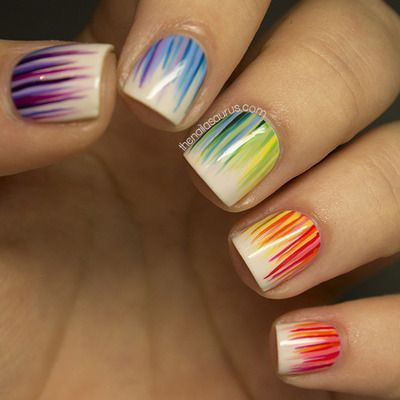 30Rainbow Nail Art - 30 Colorful Nail Designs Nail Design Ideaz