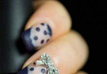 Stunning 3D Bow On Dotted Nails