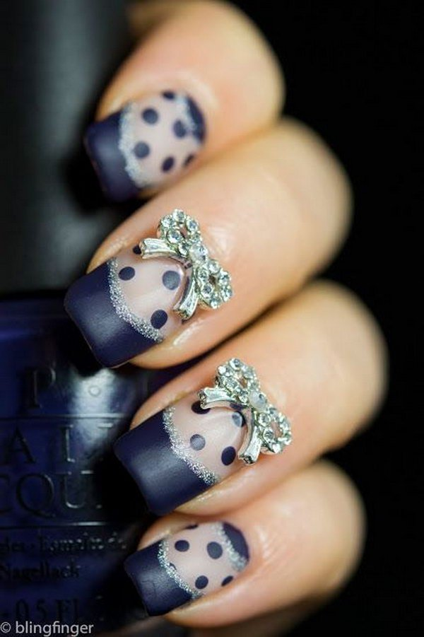 32 Lovely Bow Nail Designs | Nail Design Ideaz