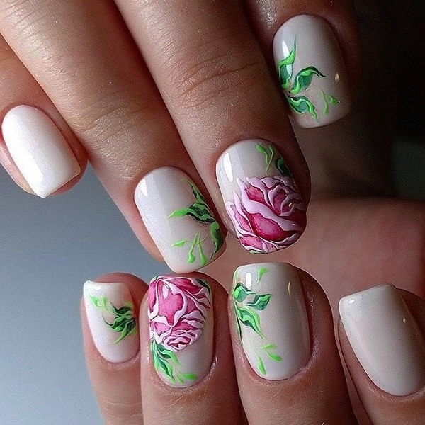 - 35 Stunning Rose Nail Designs Nail Design Ideaz
