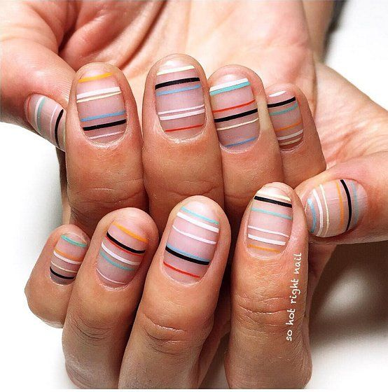 30 Imaginative Striped Nails Nail Design Ideaz