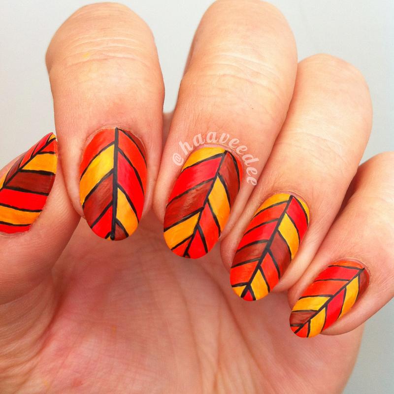 50 Golden Autumn Nails | Nail Design Ideaz
