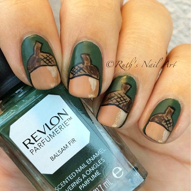 Acorn Nail Design