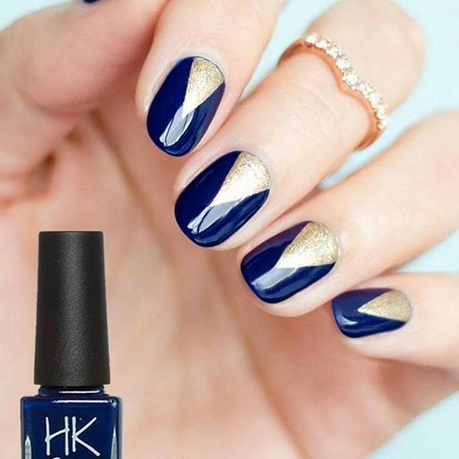 39Blue and Gold Nails - 40 Royal Blue Nails Nail Design Ideaz