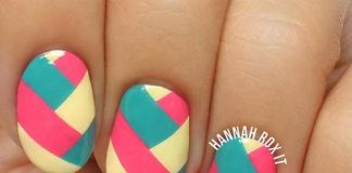 Color Block Oval Nail Designs
