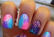 Fabulous Gradient Cheetah Nails