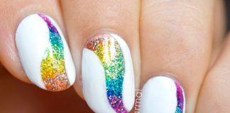 Glitter Tornado Nail Art