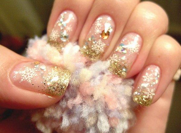 40 impressive christmas nail designs nail design ideaz prinsesfo Images