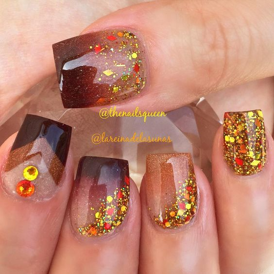Gorgeous Fall Themed Nails