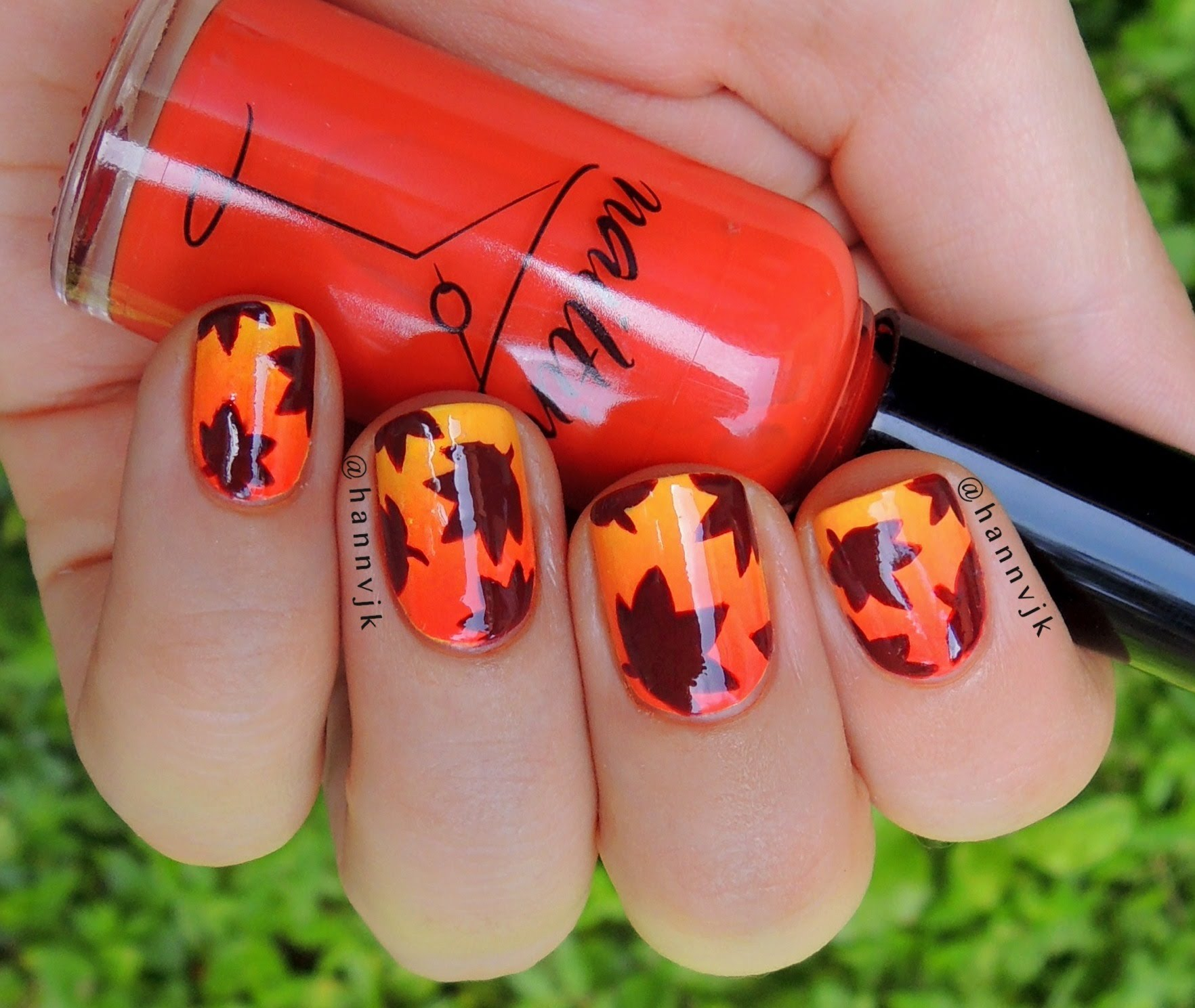 Diy Autumn Gradient Nail Art: 50 Golden Autumn Nails