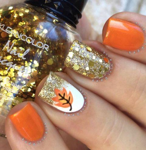 lovely-little-orange-autumn-leave-nails