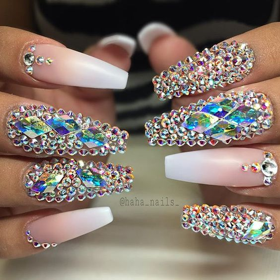 30 Sophisticated Design Of Swarovski Crystals For Nails | Nail ...