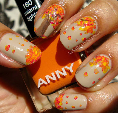 one-big-tree-and-fallen-leaves-nail-design