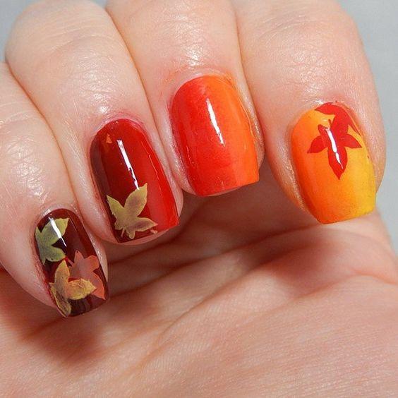 pumpkin-color-nails