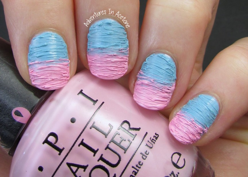30 Pink and Blue Nails | Nail Design Ideaz