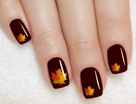 50 golden autumn nails nail design ideaz simply but attractive nails prinsesfo Images