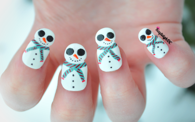 30 merry snowman nails nail design ideaz prinsesfo Images