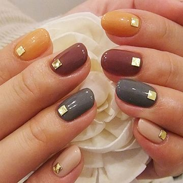 Studded Fall Nails