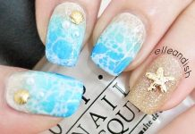 Stunning Beach Nail Design