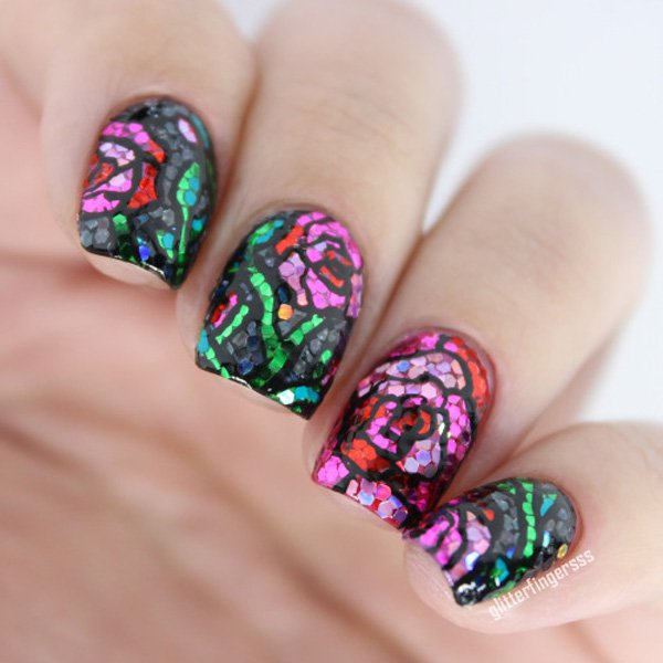 48 Sparkly And Glittery Nails Nail Design Ideaz