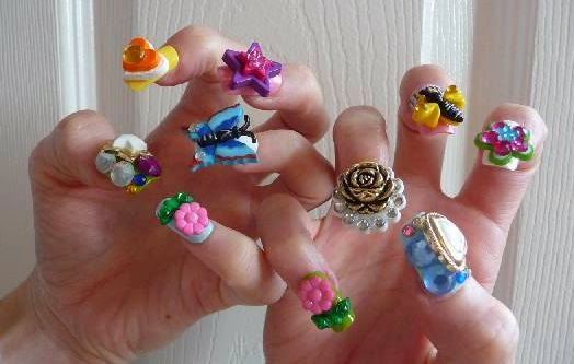 30Assorted 3D Nail Decals - 30 Bombastic 3D Nail Design Nail Design Ideaz