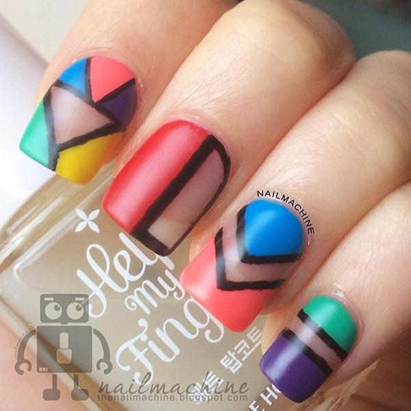 50 Abstract Nail Art Designs Nail Design Ideaz