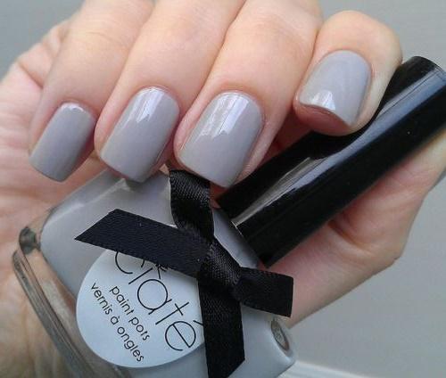 30 Classy Gray Nail Polish Nail Design Ideaz