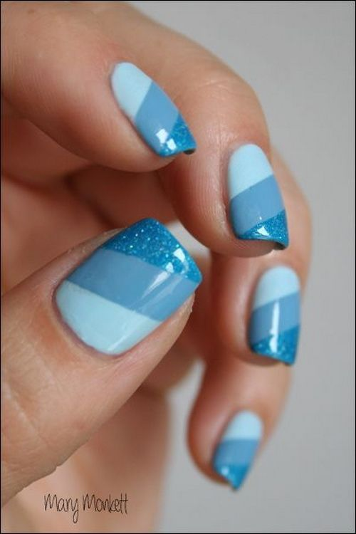 25 Striped Nail Designs | Nail Design Ideaz