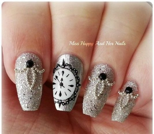 New year nail designs archives nail design ideaz 30 glamorous new years nail art prinsesfo Gallery