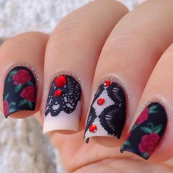 30 Sophisticated Lace Nail Designs