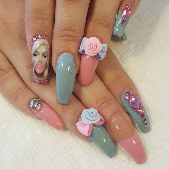 30 Alluring Marilyn Monroe Nails | Nail Design Ideaz