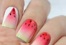 Ombre Watermelon Nail Design