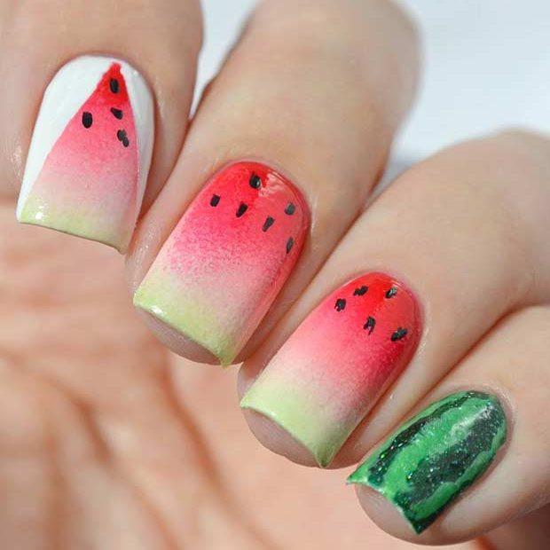 30 Juicy Watermelon Nails