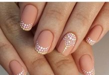 Pastel Dots Nude Nail Ideas