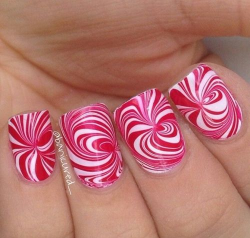 35 spectacular water marble nail art nail design ideaz 35pink and white water marble nails prinsesfo Choice Image