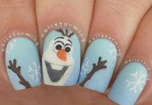 Sneaky Olaf Nails