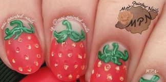 Textured Strawberry Nail Design