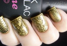 Vintage Metal Gold Nails
