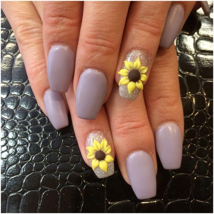 32 Glaring Sunflower Nail Art Nail Design Ideaz Page 10