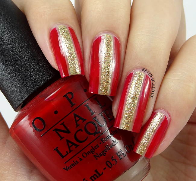 32Adorned Nail Design - 40 Flamboyant Red And Gold Nails Nail Design Ideaz
