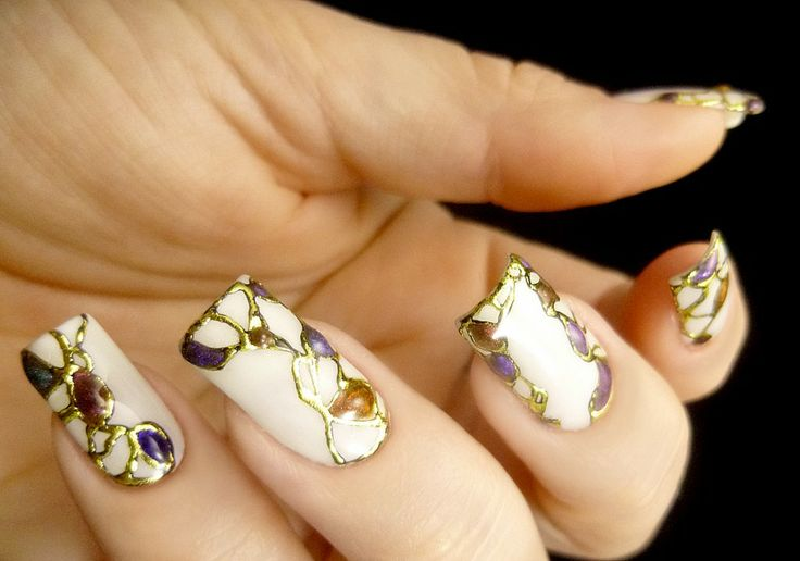 30 grand and classy nails nail design ideaz 30beautiful gem inspired nail design prinsesfo Images