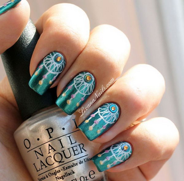- 30 Stylish Teal Nail Designs Nail Design Ideaz