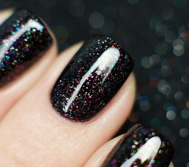 30 Black Glitter Nail Polish