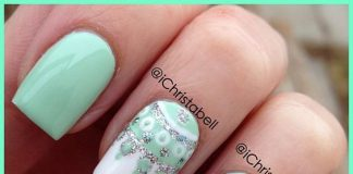 Chic Mandala Art On Mint Green Nails