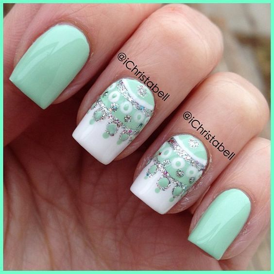 30 Refreshing Mint Green Nails Nail Design Ideaz