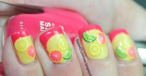 Citrus Fruit Nails