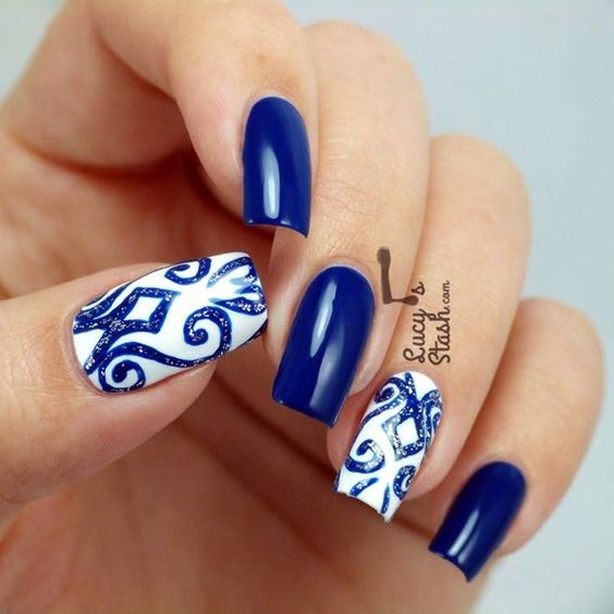 30 Random Winter Nail Designs Nail Design Ideaz