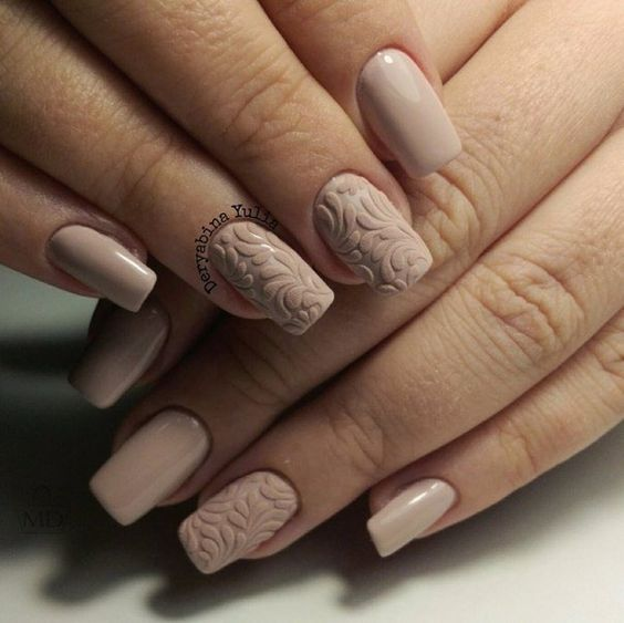 50 Creative Styles for Nude Nails Youll Love in 2020