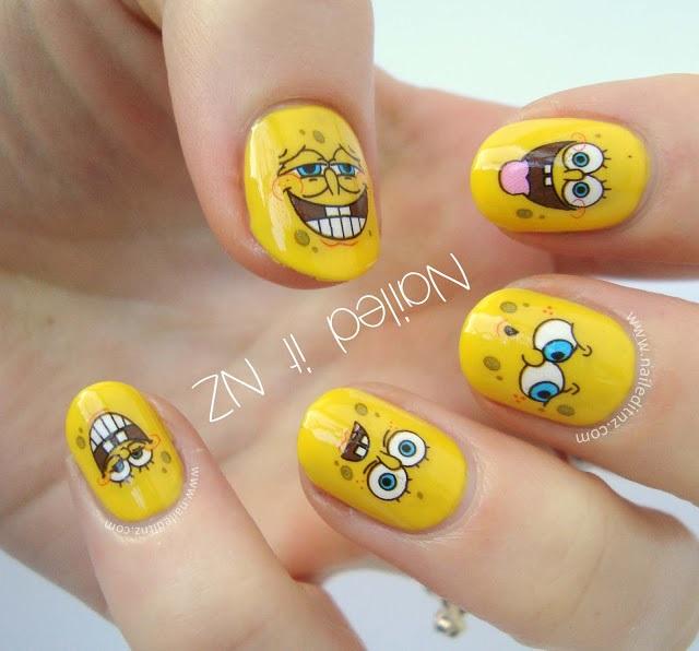 20 Spongebob Nails Straight From Bikini Bottom Nail Design Ideaz