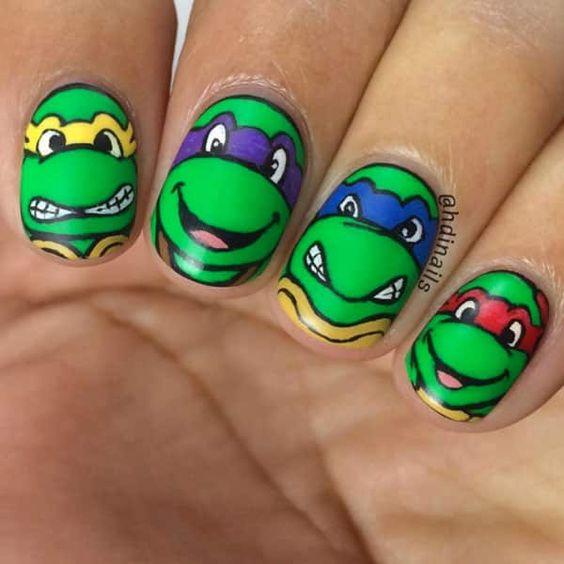 20 Teenage Mutant Ninja Turtle Nails